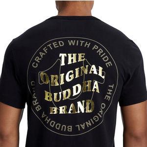 True Religion Men's Buddha Gold Metallic Foil Tee